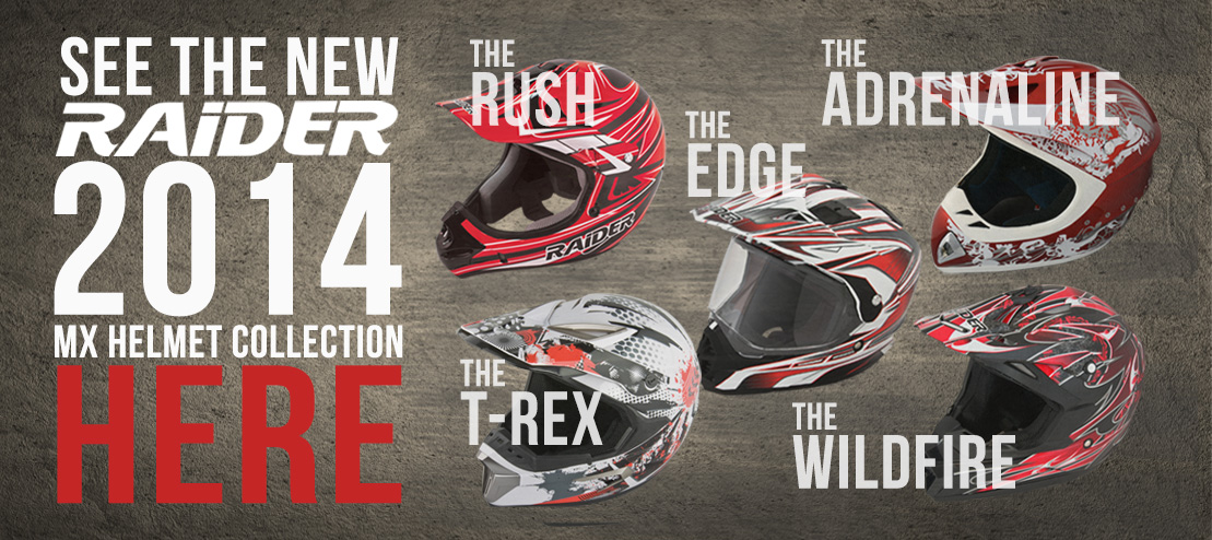 2014 Raider MX Helmets