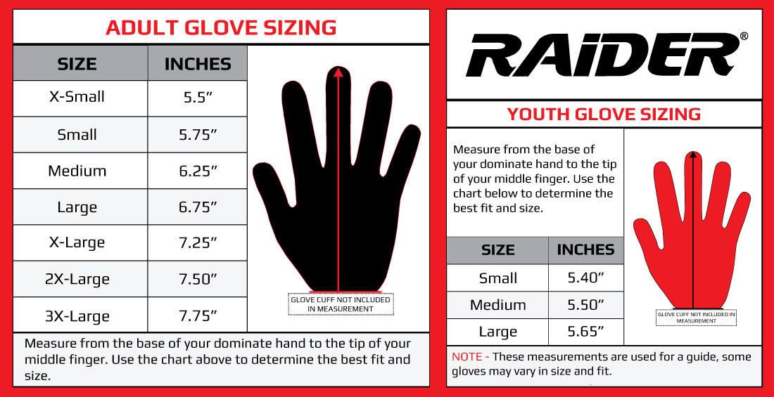 * Glove Size Chart