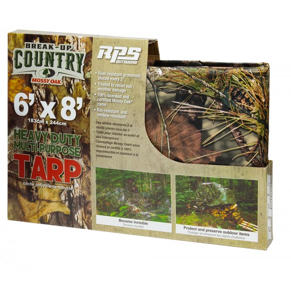 RPS OUTDOORS - MOSSY OAK® COUNTRY CAMO TARP (6' x 8') #SI-9000C