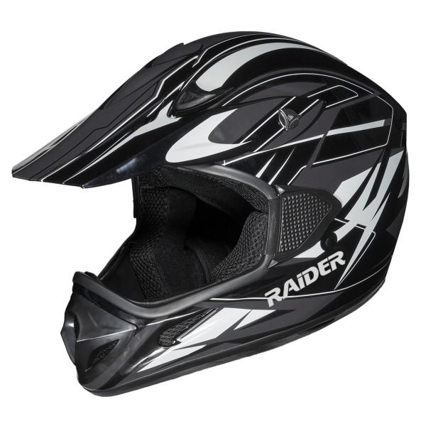 Raider RX1 ADULT MX HELMET / BLACK/SILVER