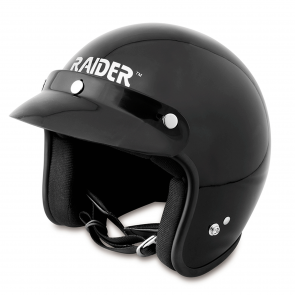 RAIDER® JOURNEY OPEN FACE HELMET / GLOSS BLACK (#26-611)