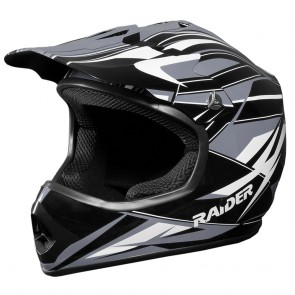 RAIDER® GX3 YOUTH MX HELMET (Black/Silver)