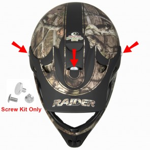 Replacement Screw Kit for Raider Ambush Camouflage Adult/Youth Helmet Visor - #AMBUSH-2PC
