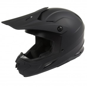 Raider Adult Off Road Z7 MX Helmet - (Matte Black)