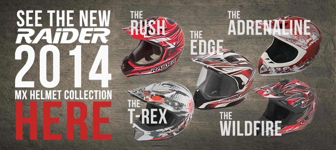 2014 Raider MX Helmets